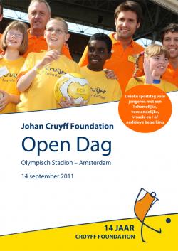 Poster Johan Cruyff Foundation Open Dag 2011