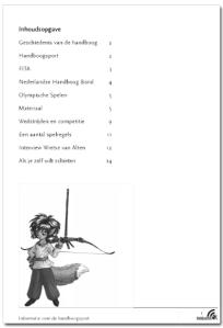 Infoboekje Handboogschieten