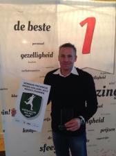 Dennis Gebbink na ontvangst van de prijs in het Kurhaus.