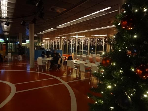 Kerstverlichting in het clubhuis!