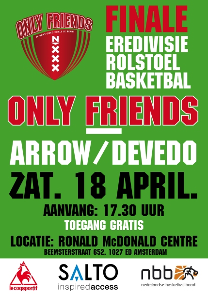 Basketbal finale 18 april DEFF